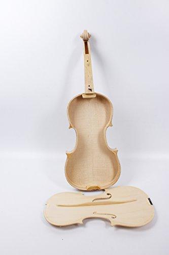 yinfente Violine unlackiert weiß Violine 4/4Unglued Violine Flamme Ahorn- und Fichtenholz Top Violine Zubehör Teile