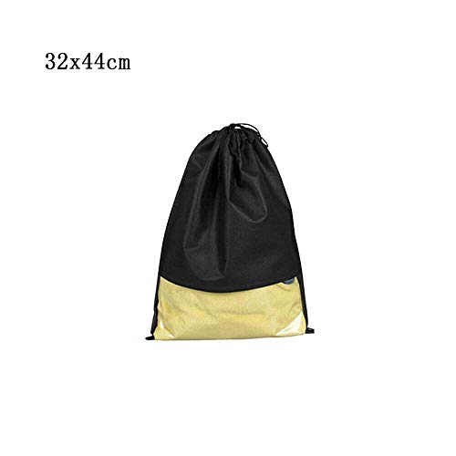 VIP Non-Woven waterproof, portable Travel Shoes Storage Bags/Pouch with Rope in Multi-Colour (black, 5)