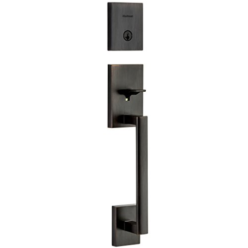 Kwikset San Clemente 98180-004 Single Cylinder Low Profile Deadbolt Exterior Only Handleset Featuring SmartKey In Venetian Bronze
