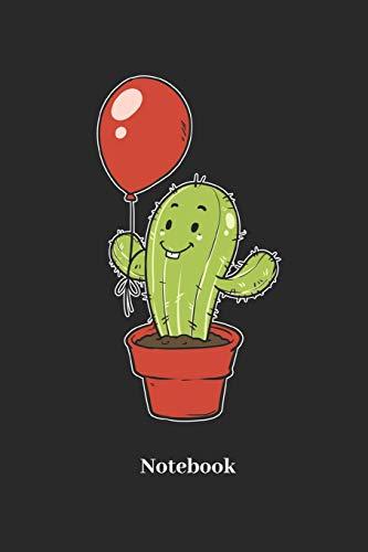 Notebook: Liniertes Notizbuch für Kaktus, Ballon, Luftballon und Pflanzen Fans - Notizheft Klatte für Männer, Frauen und Kinder