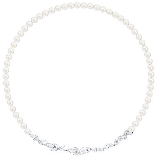 Swarovski Damen-Perlenketten Edelstahl Kristall 5414693