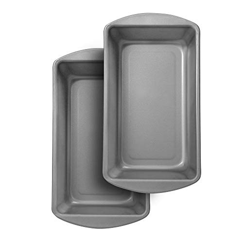 G & S Metal Products Company OvenStuff Nonstick Large Loaf Baking Pan, Set of 2, Gray
