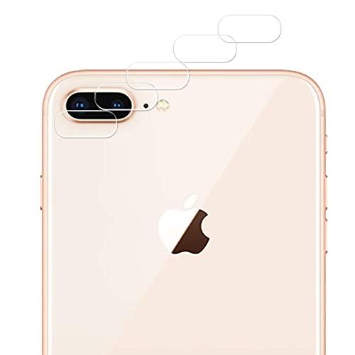 Guran 5 Paquete Protector de Lente de Cámara para iPhone 7 Plus/iPhone 8 Plus Smartphone 9H Dureza Sin Burbujas Cristal Templado Película - Transparente
