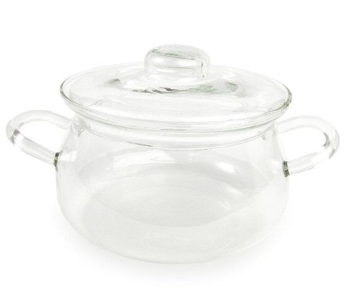 Catamount Glassware Bean Pot with Glass Lid, 1.5-Quart