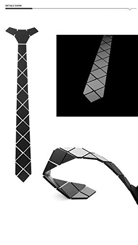 CEKINF Forma Negocio Corbata Diamante Grande Corbatas Rombo Negro ...