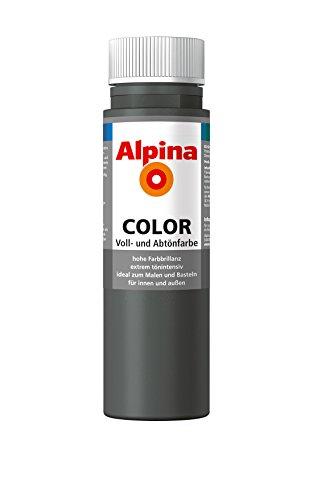 ROLLER Alpina Voll- und Abtönfarbe COLOR - dunkelgrau - 250 ml