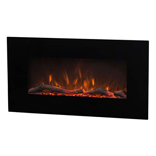 Art Flame, Chimenea eléctrica de pared Marcos 3 colores, 1500 W, Control Remoto