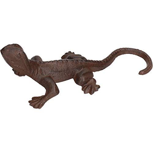 AB Tools Jardin Gecko Lizard Statue Sculpture Ornement Decoration Metal pelouse Animaux