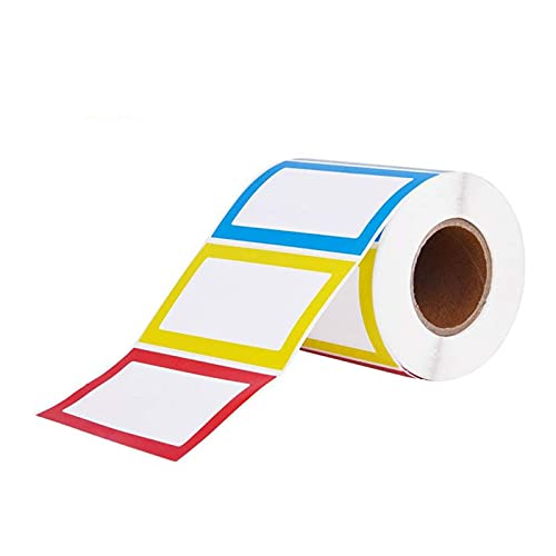 150 unids/rollo Colorido Nombre Plain Pegatinas Nombre Etiquetas Stick On Para Niños, Muro, Escritorio Para Escuela Oferta Papelería Papelería (Size : 1roll)