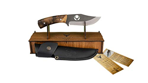 Custom Handmade Tactical Knife- 4116 Stainless Steel Survival Knife for Hunting and Camping- Fixed Blade Knives with Walnut Wood- Include (Sheath and Wooden Box)