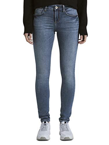 TOM TAILOR Damen Jeanshosen Alexa Skinny Jeans mid Stone wash Denim,33/32