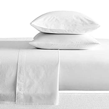 SGI bedding Full XL Size Sheets Luxury Soft 100% Egyptian Cotton - Sheet Set for Full XL Size 54x80 Mattress White Solid 600 Thread Count Deep Pocket…