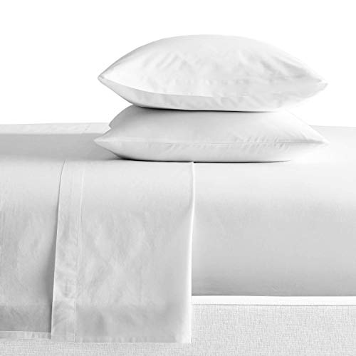 SGI bedding Three Quarter Sheets Luxury Soft 100% Egyptian Cotton - Sheet Set forThree Quarter Size 48x75 White Solid 600 Thread Count Deep Pocket
