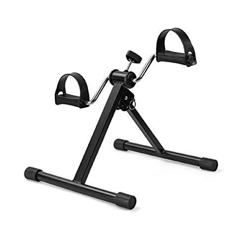 Mini Pedal Ejercitora Bicicleta, bajo la mesa de escritorio Pedal estacionario Ejercitador para el brazo de la mano y el entrenamiento de la pierna, la recuperación de la resistencia ajustable del ple