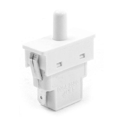 Sourcingmap - 250v 0.25a 1e5 isolante custodia spst 2 pin interruttore della luce porta del frigorifero
