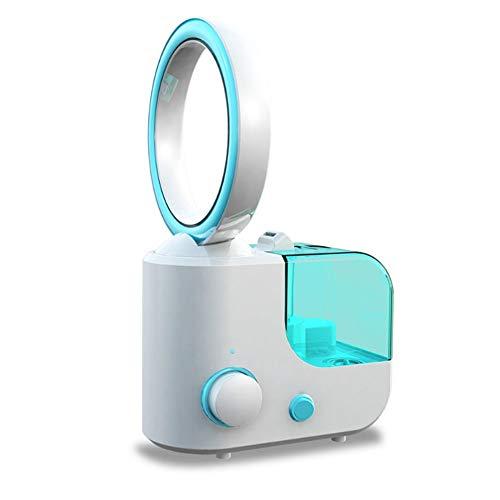 Scra AC Ventiladores USB , Multifunción 2 En 1 Auto-ensamblado Ventilador Sin Cuchilla con Humidificador Energía Eólica Ajustable para Oficina En Casa Acampar Al Aire Libre Viajes, Rosado