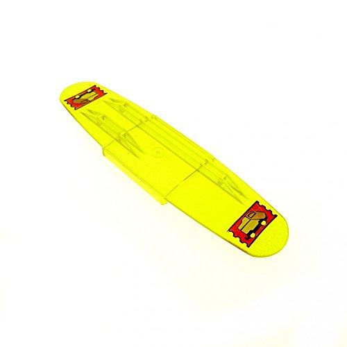 1 x Lego Duplo Intelli Lok Code Stein transparent gelb Bahnhof Personen für Schiene Eisenbahn 42391
