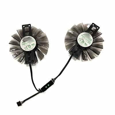 2pcs / Set palit GTX 970 GPU Cooler 9 0MM Fan for palit GTX970 4 GB Tarjetas gráficas como reemplazo (Blade Color : GA92S2H)