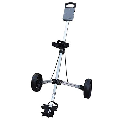 HLR Golftrolley Zieh Golfcarts Manuelle Push/Pull Golf Cart zweirädrigen Push Cart Faltbare Kugel Charter Golf Golf Cart