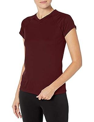 Champion Women's Short Sleeve Double Dry Performance T-Shirt, Maroon, Medium
