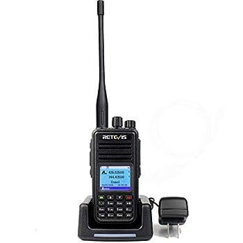 Retevis RT3S Dual Band DMR Digital Two Way Radio GPS Record 2 Time Slot  Black,1 Pack