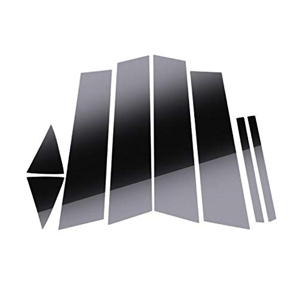 ピアノを弾くねばねばコンピューターを使用するJicorzo - アクセラアクセラM3 2014年から2018年カーエクステリアアクセサリースタイリングのための車のミラーエフェクトウィンドウセンターピラーカバートリムフィット