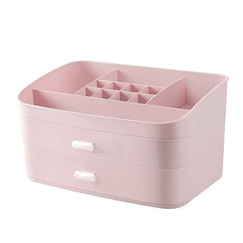 KKY-ENTER Cosmétique Boîte De Rangement En Plastique Simple Bureau Rouge À Lèvres Bijoux Produits de Soins de La Peau Boîte De Affichage Du Stockage 32 * 23 * 17.5cm (Couleur : Pink)