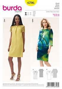 Burda 6706 Schnittmuster Kleid mit rundem Ausschnitt (Damen, Gr. 36 - 46) Level 2 leicht