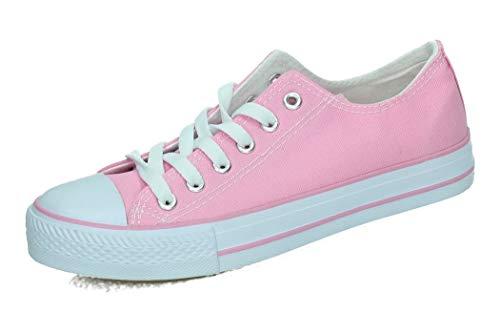 DEMAX 7-A1612G Bambas DE Lona Pink Mujer Zapatillas