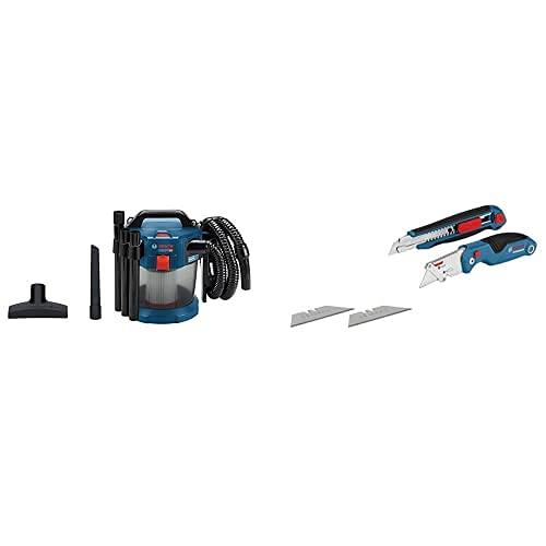 Bosch Professional 18V System Aspirador Seco/Húmedo Batería Gas 18V-10 L + - Set De Corte 2 Unidades Navaja Y Cúter