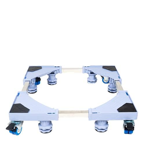 Aviksha Enterprise Premium Adjustable Front Load Washing Machine/Heavy Load Refrigerator/Heavy Load Fridge/Heavy Load Dishwasher Trolley/Stand with Wheels and Legs : Colour : Bluish Grey