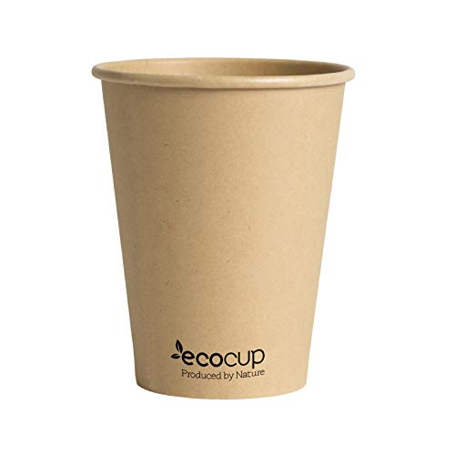 Vasos de Café Desechables, Biodegradables y Compostables- 50Uds 400ml/ 12oz -Materiales 100% Ecológicos: Cartón Con...