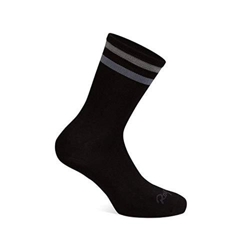 Calcetines deportivos de rayas hombres y mujeres ejecutan calcetines de compresión transpirables Negro