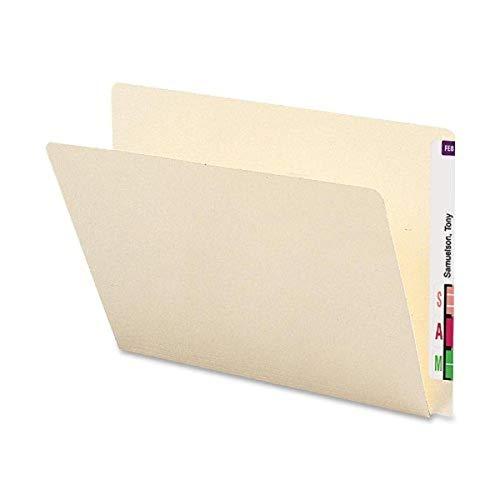 Smead End Tab File Folder, Straight-Cut Extended Tab, Letter Size, Manila, 100 per Box (24250)