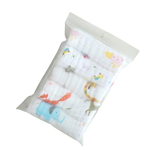 rongweiwang 5 Piezas bebé Saliva Toallas 6 Capas algodón Gasa Gasa de Gasa bebé alimentación Burp paño recién Nacido alimentación Cuadrada Baberos toquilla Color Aleatorio Color