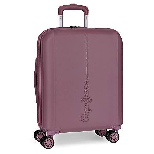 Pepe Jeans Glasgow Maleta de cabina Morado 40x55x20 cms Rígida ABS Cierre TSA 37L 3,2Kgs 4 Ruedas dobles Extensible Equipaje de Mano