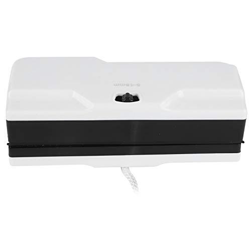 Fdit Escobilla de Goma Multiusos, Limpiador de Ventanas magnético Herramientas de Limpieza de escobilla de Vidrio de Doble Cara Ajustable para Oficina en casa(Blanco)