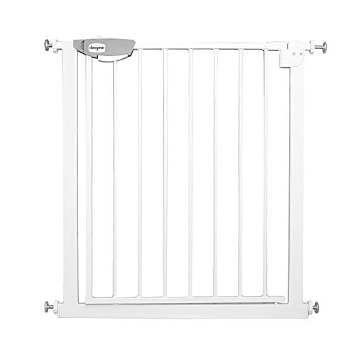 Froadp Griglia di protezione per porte e scale, per bambini, senza forare, 105 – 115 cm, cancelletto automatico per la sicurezza dei bambini, bianco