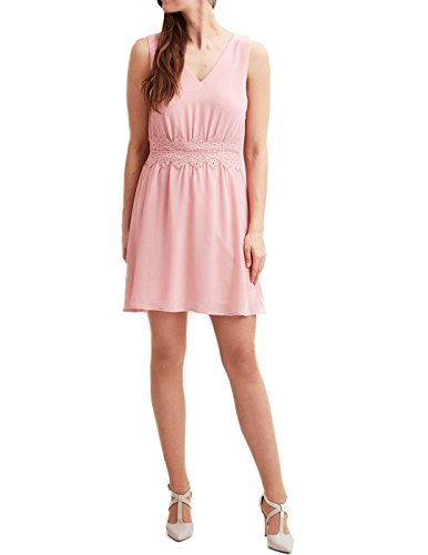 Vila Clothes Damen VIMILINA V-Neck Dress/DC/2 Partykleid, Rosa (Bridal Rose Bridal Rose), 38