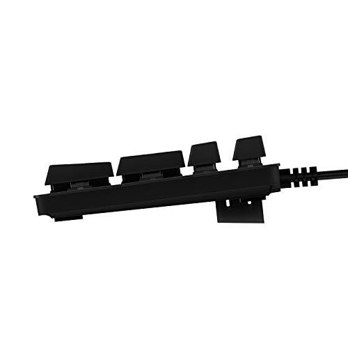 Logitech G413 Mechanical Gaming Keyboard, Backlit Keys, Romer-G Tactile Key Switches, Brushed Aluminum Case, Customizable, USB Pass Through, QWERTY UK Layout - Carbon/Black