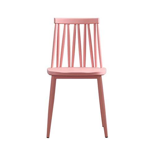 TXXM Sedia da scrivania for Il Tempo Libero con Sgabello in plastica for la casa Moderna e Minimalista (Color : B)