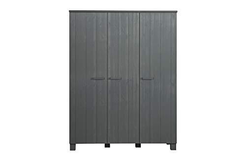 Green Farm - Armario Coppergard de 3 puertas de pino gris acero cepillado [FSc]