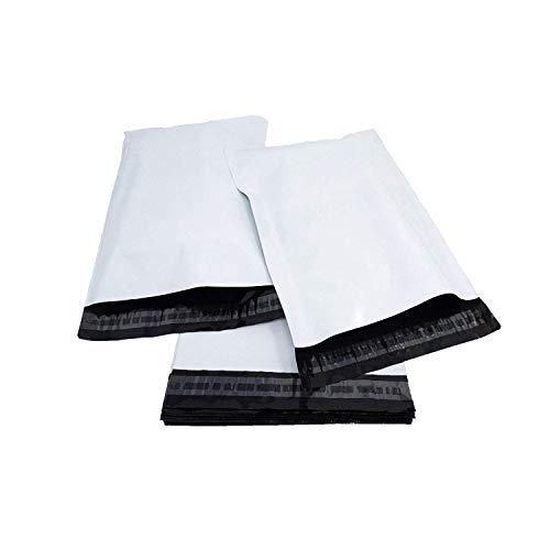 Versandtaschen, Kunststoff, selbstklebend, hochwertig, Polyethylen, Weiß, 100 Stück 11