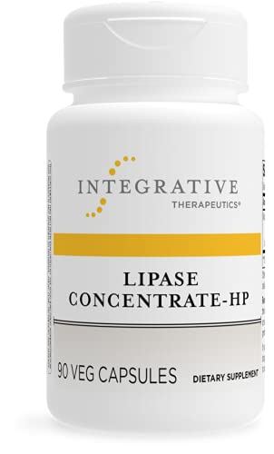 Integrative Therapeutics Lipase Concentrate-HP - Enzyme Supplement for Men and Women That Aids in The Digestion of Fats* - Keto and Paleo Friendly* - 90 Vegan Capsules