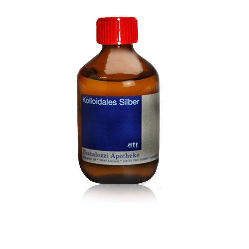 Kolloidales Silber 100ppm aus Apotheken-Herstellung - 100 % natürliches, kolloidales Silberwasser, ohne chemische Zusatzstoffe, Inhalt: 200 ml