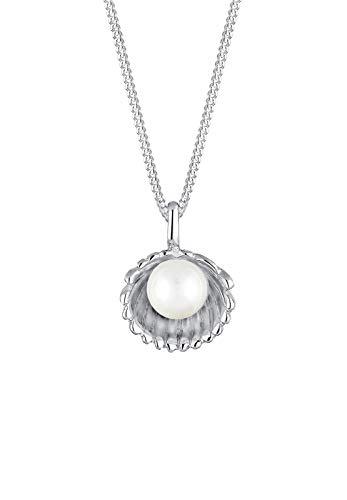 Elli Halskette Damen Muschel Süßwasserzuchtperle in 925 Sterling Silber