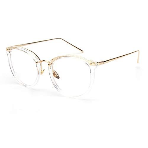 Xniral Damen Herren Anti-Blaulicht-Schutzbrillen Computerbrillen Retro Cateye Brillen(B)
