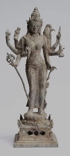 Estatua de Parvati, estilo antiguo indonesio bronce javanés Parvati estatua - 35 cm