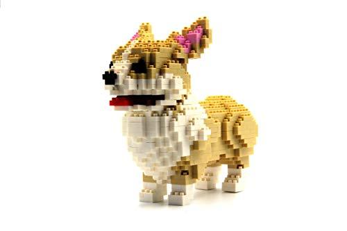 MAGMABRICK Pembroke Perro Galés Corgi, Juegos Pequeños Construir Rompecabezas 3D, Mini Juegos de Construcción, 990 Piezas, Nivel de Dificultad 3