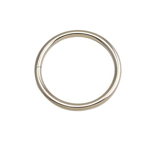 """Wuuycoky Silvery 2"""" Inner Diameter O-Rings Rings Non Welded Strap Adjuster Webbing Belts Buckle Pack of 6"""